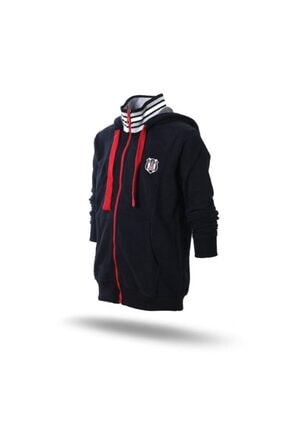 Beşiktaş Unisex Siyah Lisanslı Kapüşonlu Sweatshirt
