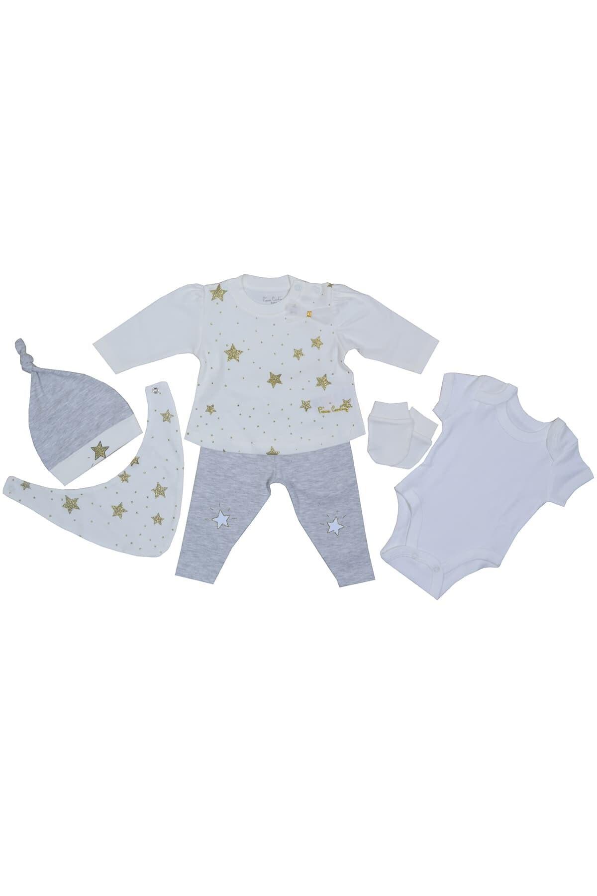 Pierre Cardin Baby Pierre Cardin My Stars Yenidoğan Takımlı Bebek Seti Ekru-gri 1