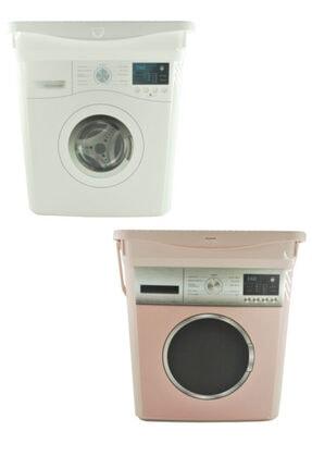 HerkeseUygun Çamaşır Makinası Desenli 2'li Deterjan Kutusu 6 Lt Pembe Beyaz