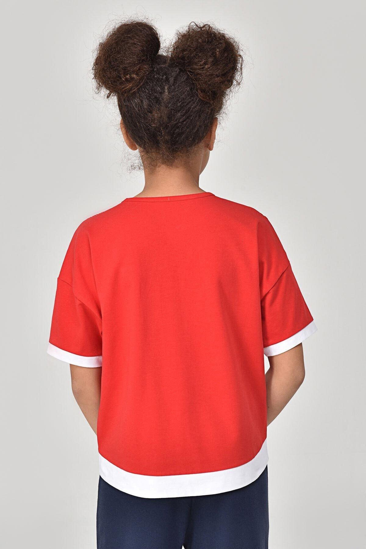 bilcee Kırmızı Kız Çocuk T-Shirt GS-8193 2