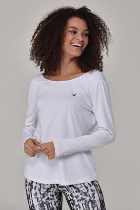 bilcee Beyaz Kadın Uzun Kol T-Shirt GS-8108