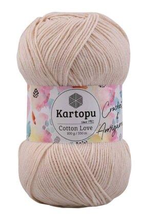 Kartopu Ekru Cotton Love El Örgü İpi 100 gr K354