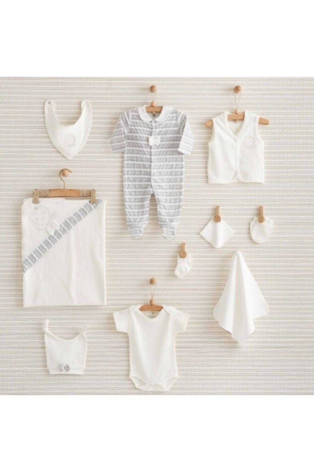 Bebbek Kalpli Beyaz 10 Lu Hastahane Çıkış Seti 1