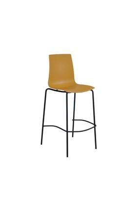 Papatya X-treme Bsl Pro Bar Sandalyesi Otel Kafe Restoran Mutfak Sarı-siyah