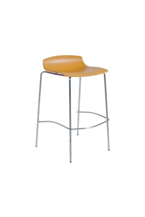Papatya X-treme Bss Pro Bar Sandalyesi Otel Kafe Restoran Mutfak Koyu Sarı - Krom
