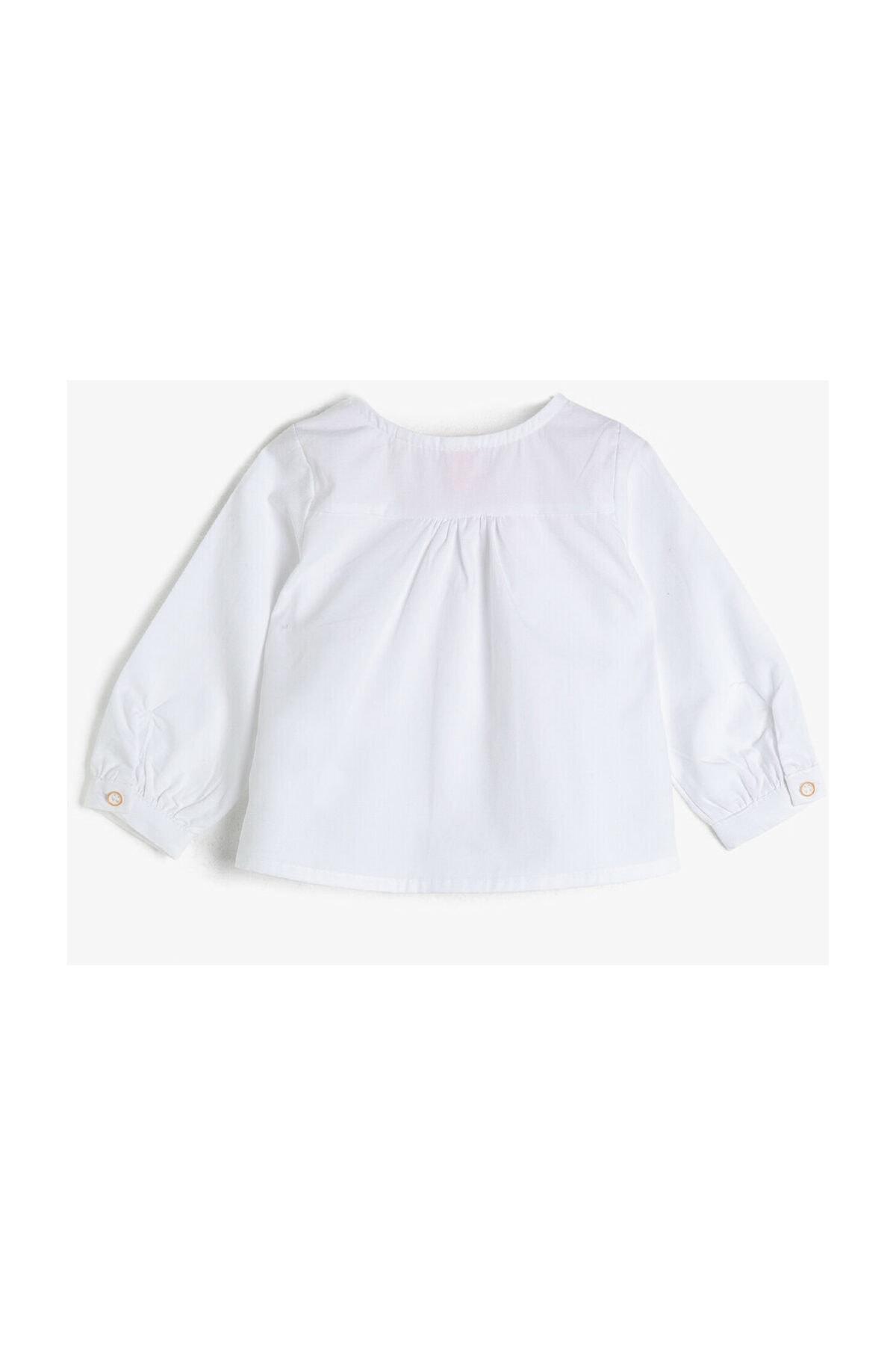 Koton Kids Beyaz Kız Bebek Gömlek 2