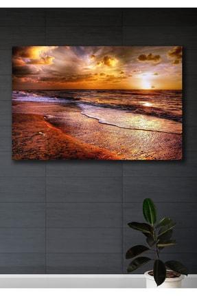 Hediyeler Kapında Günbatımı Kanvas Duvar Tablo 90x130
