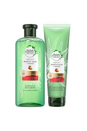 Herbal Essences Sülfatsız Aloe 380 Ml Mango + 275 Ml Saç Kremi