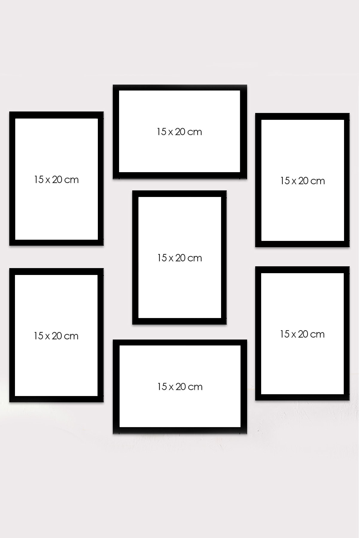 Kate Louise 7 Parça Çerçeve Görünümlü Mdf Tablo Seti (60x60 Cm) 2