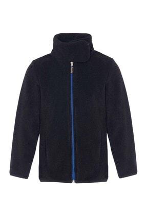 ASL Kids Colors Unisex Çocuk Siyah Polar Ceket Yakalı Sweatshirt
