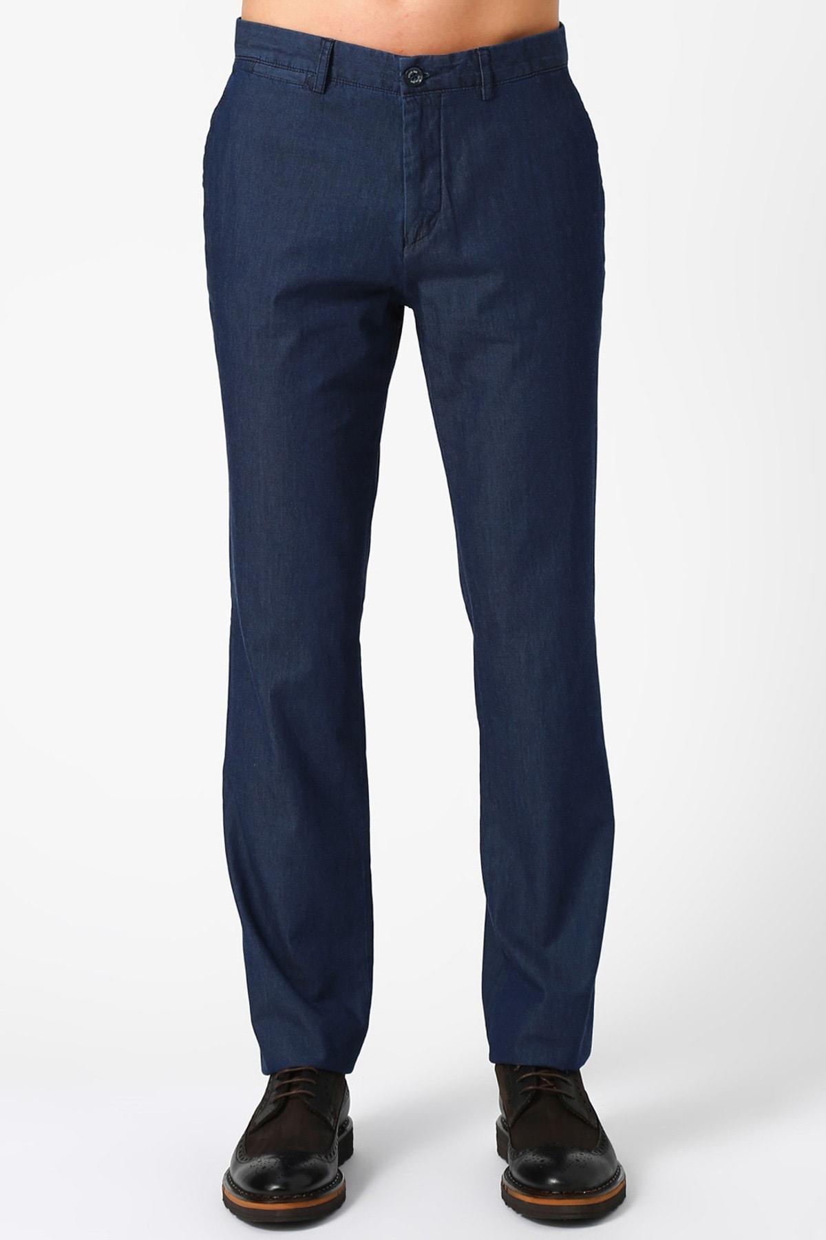 Cotton Bar Erkek Lacivert Pantolon 503155005 2