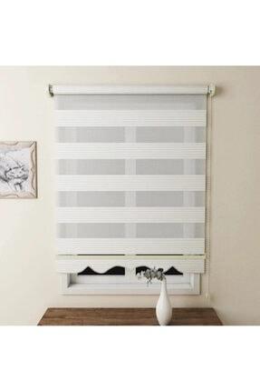 Brillant Zebra Perde Pliseli Beyaz Etek Dilimli 160x200 Bb001