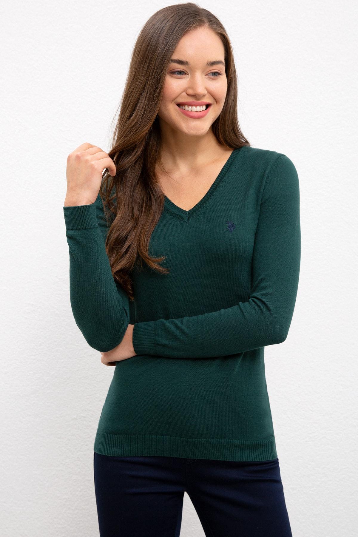 U.S. Polo Assn. Kadın Kazak G082SZ0TK.000.1078635 1