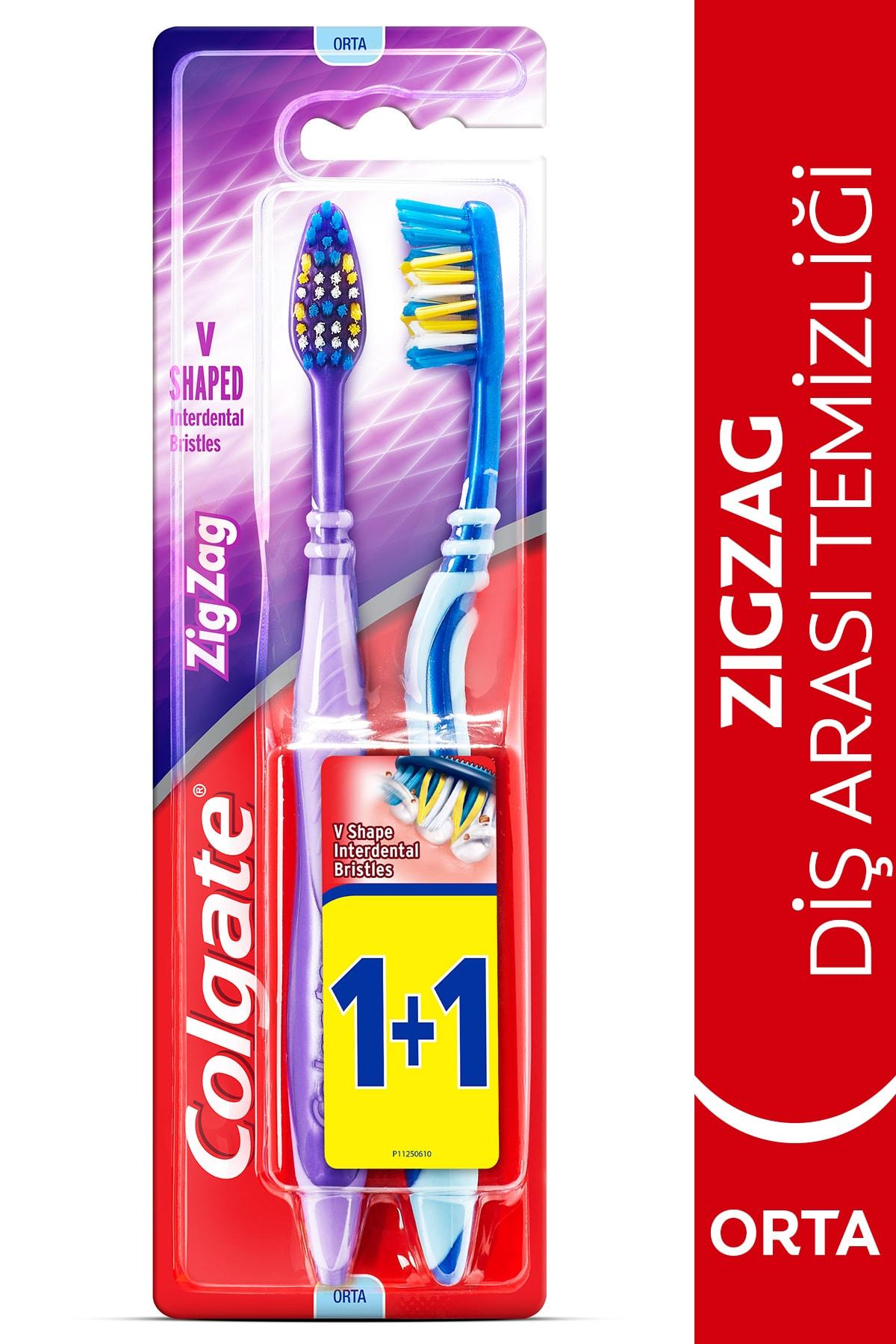 Colgate ZigZag Diş Arası Temizliği Orta Diş Fırçası 1+1 1