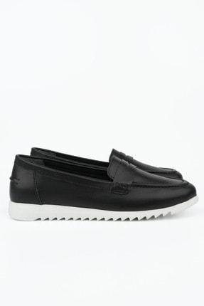 Marjin Kadın Siyah Hakiki Deri Loafer Ayakkabı Vonlez