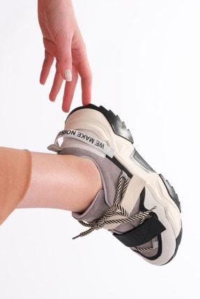 Marjin Kadın Siyah Sneaker Dolgu Topuk Spor Ayakkabı Farley