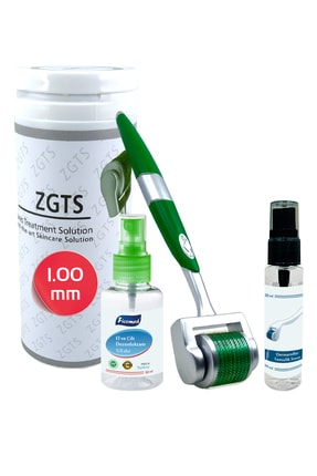 Zgts Green Line Dermaroller 1.00 mm Titanyum 540 İğneli Saç Yüz Cilt İçin Derma Roller