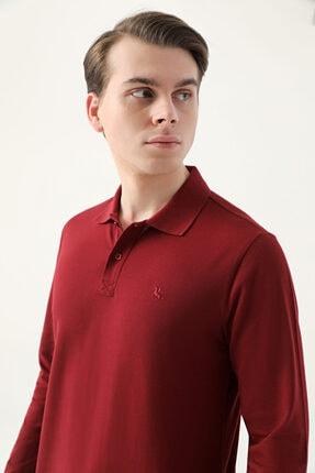 D'S Damat Ds Damat Regular Fit Bordo Pike Dokulu T-shirt
