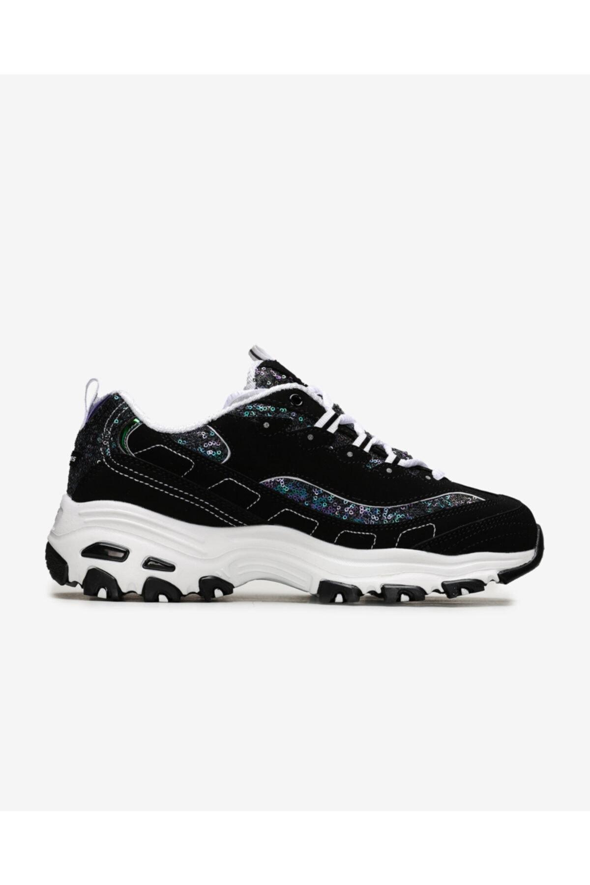 SKECHERS D'LITES-FAME & FORTUNE Kadın Siyah Sneakers 2