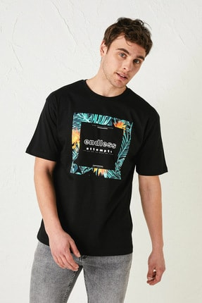 LC Waikiki Erkek Yeni Siyah LCW Casual Tişört