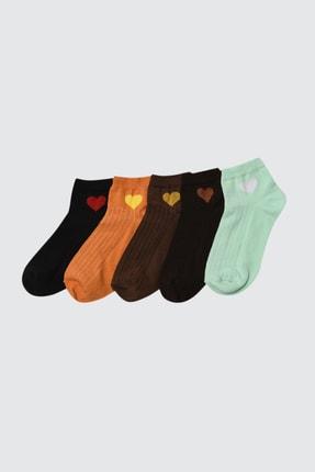 TRENDYOLMİLLA Hardal 5'li Paket Örme Çorap TWOSS21CO0019