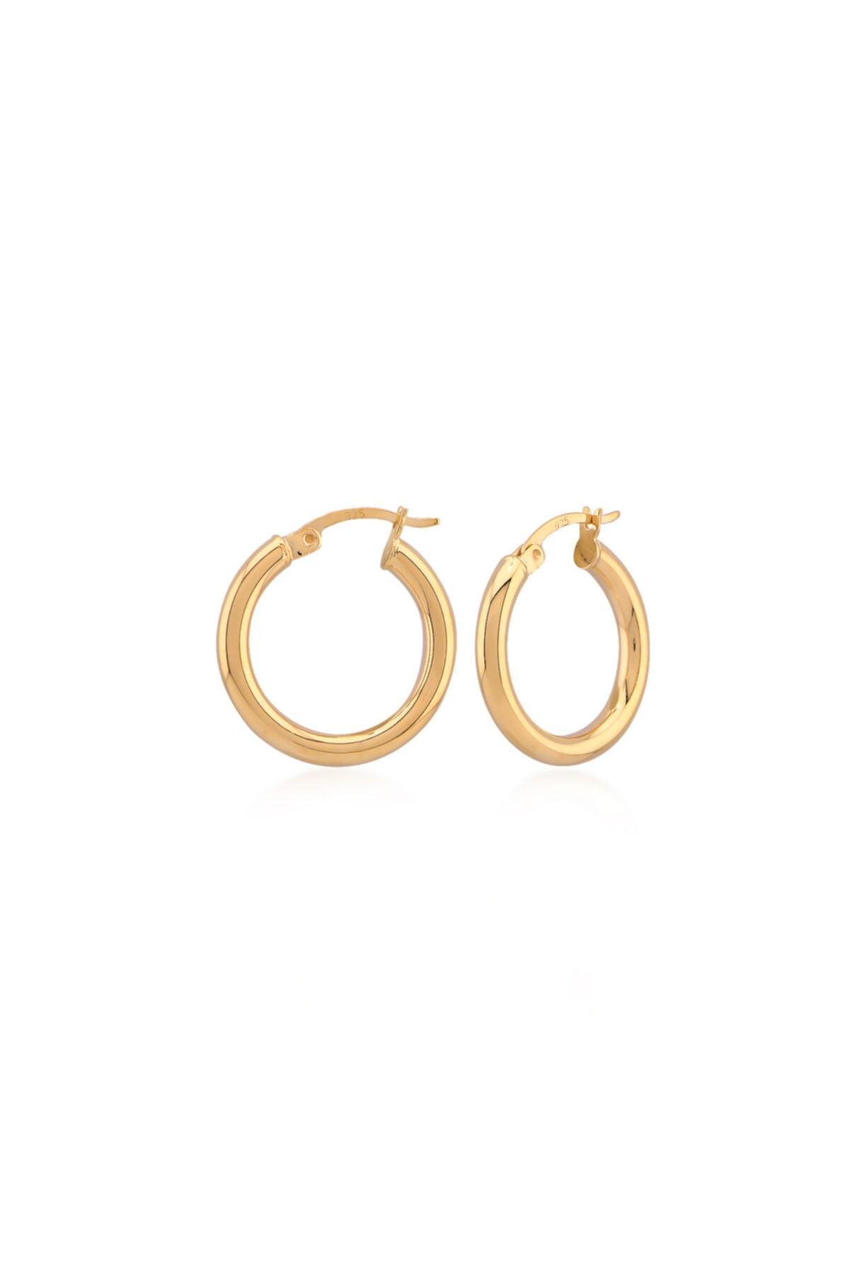 Adonia Jewels Minik Kalın Halka Küpe 1,5 Cm 1
