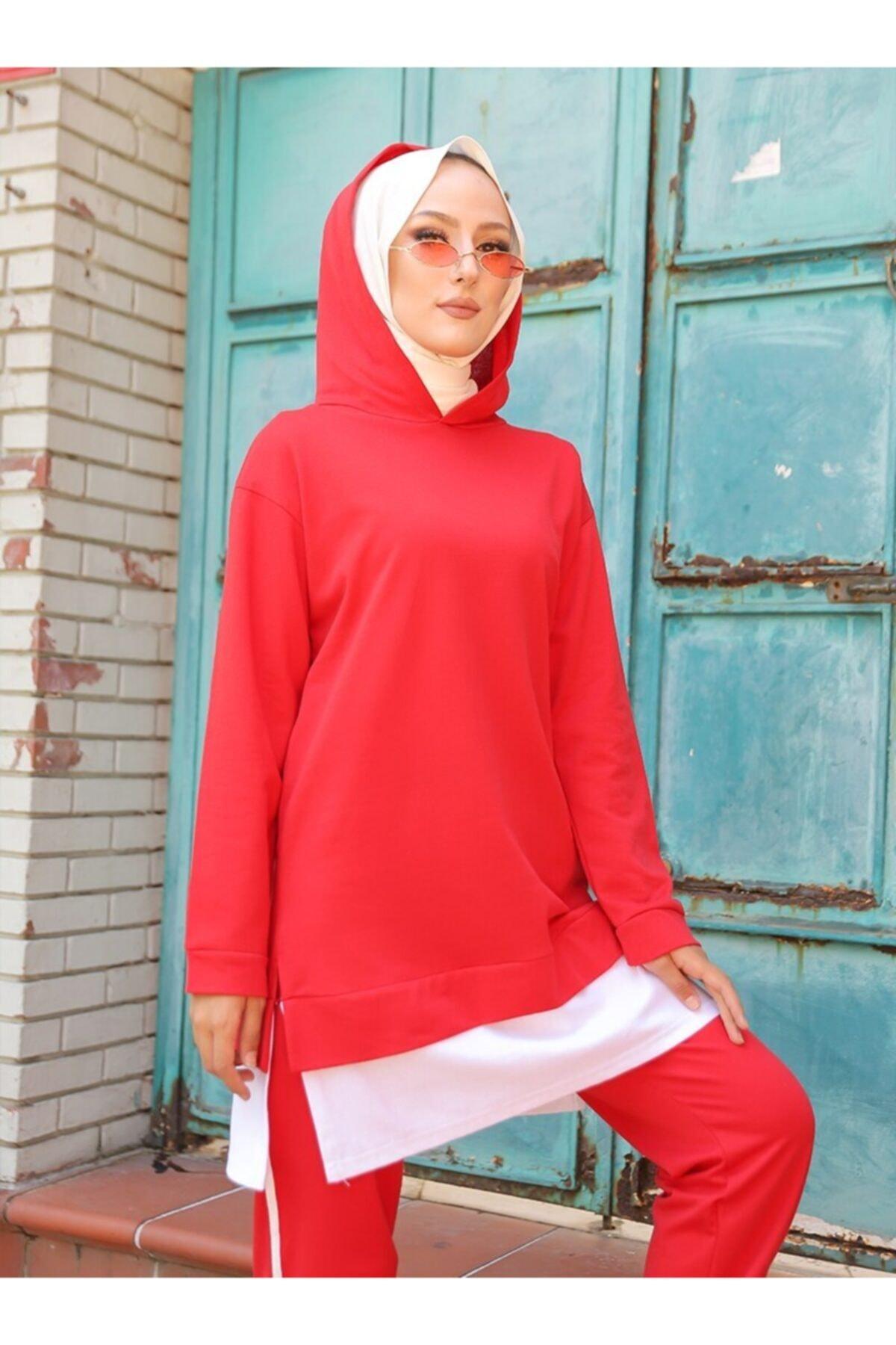 TOFİSA Kadın Kırmızı İkili Eşofman Takımı 2