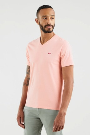Levi's Erkek Orig Hm Vneck Powder Pink Siyah  Erkek Tişört 8564100130