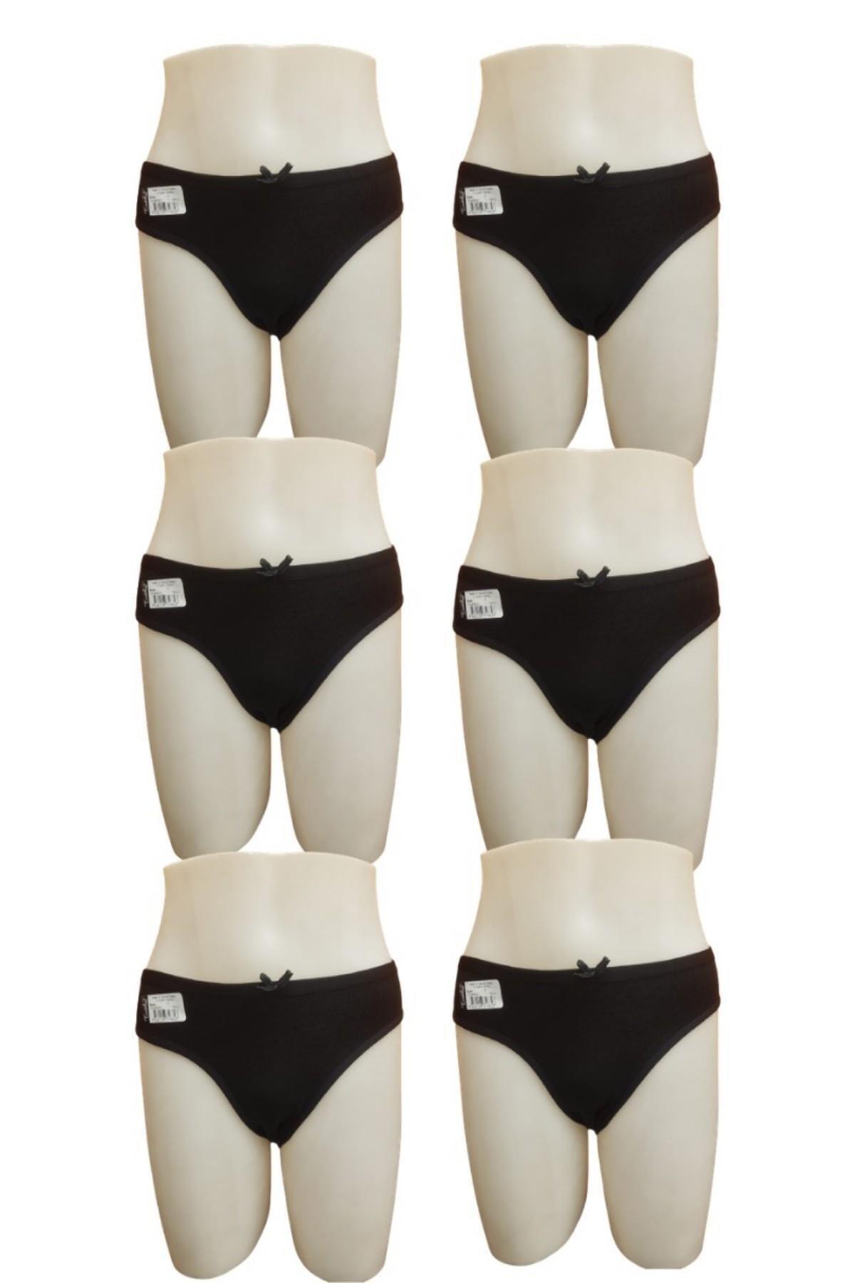 Tutku Kadın 6 Lı Paket Ince Bel Fiyonklu Bikini Külot 1