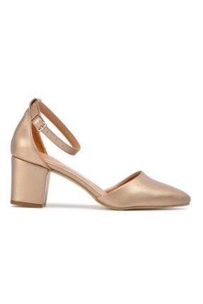 Maje Kadın Altın Renk Topuklu Ayakkabı