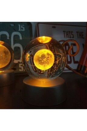 BENT Satürn Işıklı Cam Küre 5 Farklı Renk