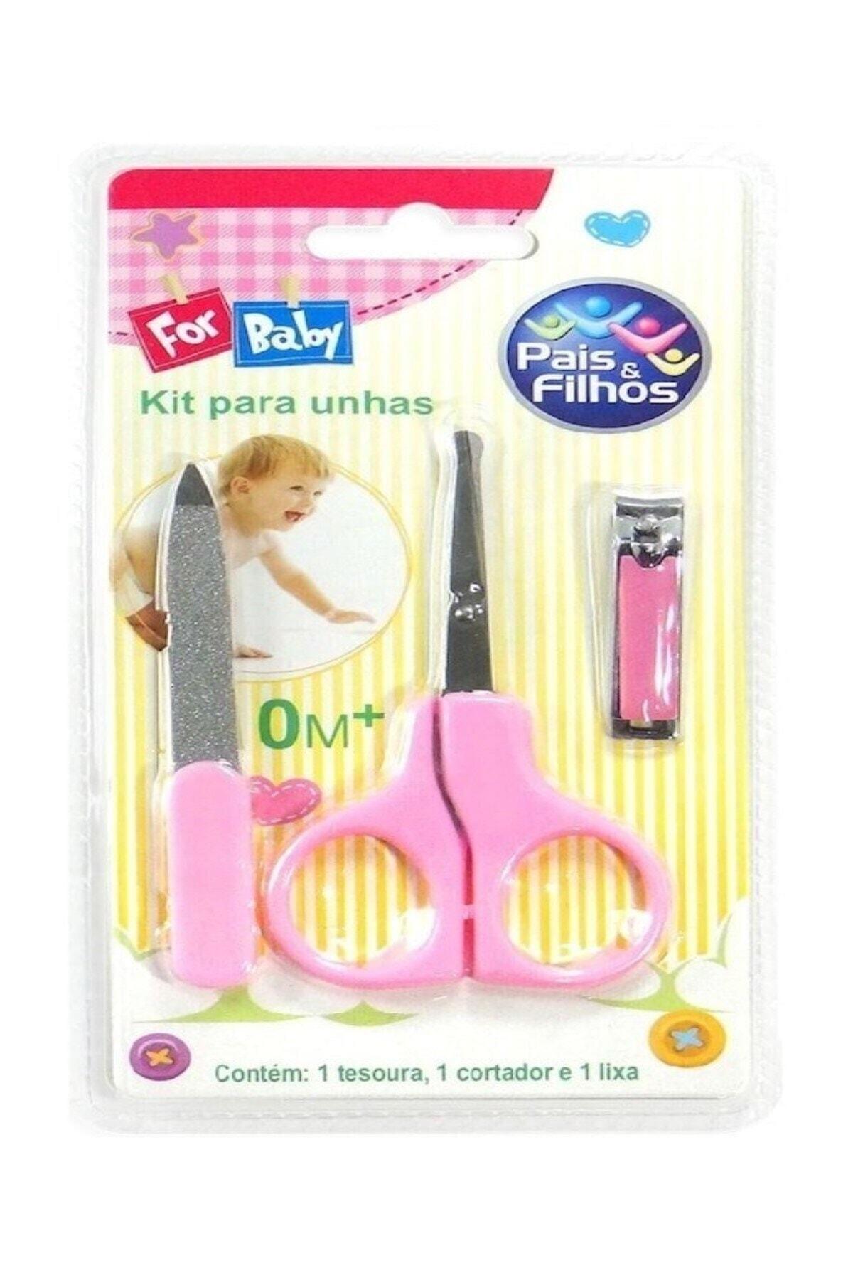 For Baby Çocuk Bebek Manikür Seti Tırnak Makası Törpü Makas Aksesuar Takım 1