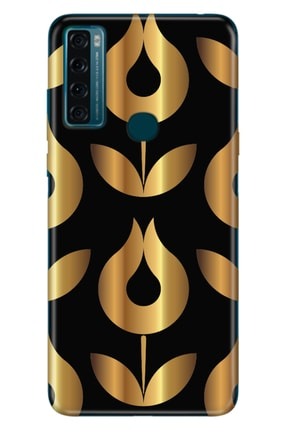 TCL 20 Se Kılıf Pure Modern Desenli Silikon Golden