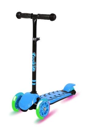 Rookie Trendy Işıklı 3 Tekerlekli Scooter Mavi