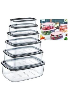 Biotech 6 Lı Şeffaf Gıda Saklama Kutusu Buzdolabı Depolama Düzenleme