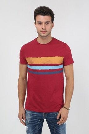 Terapi Men Erkek Bisiklet Yaka Baskılı T-shirt 20y-3400655-2 Kırmızı