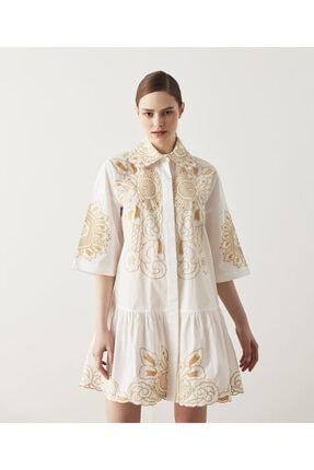 İpekyol Nakışlı Elbise