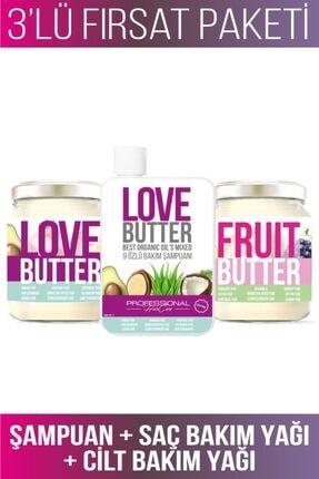 RC COSMETIC Lovebutter Saç Ve Fruitbutter Cilt Bakım Seti (9 Özlü Saç Bakım Yağı Ve Şampuanı-cilt Bakım Yağı)