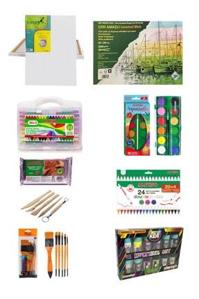 GLANCE Fanart 50x70 Tuval Art Liva Resim Defteri Fon Kartonlu 35x50 9 Parça Okul Seti
