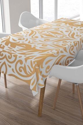 Ysahome Altın Sarısı Geometrik Şekil Desenli Masa Örtüsü