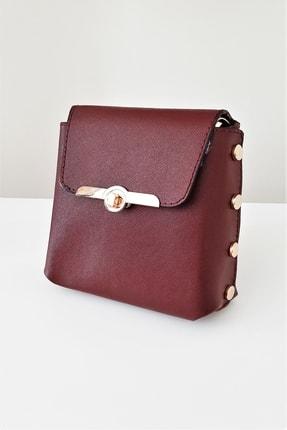 Guzmanya Bordo Mini Çanta Telefonluk&cüzdan