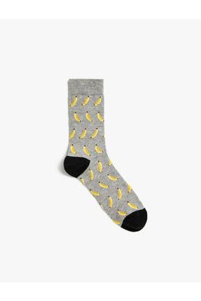 Koton Erkek Muz Desenli Çorap