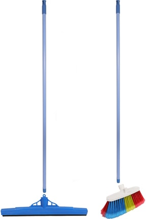 Antex Saplı Yer Fırçası - Saplı Çekpas Yersil 2'li Set 4 Parça