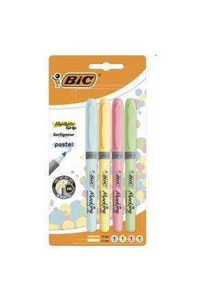 Bic Fosforlu Kalem Brite Liner Pastel 4 Renk