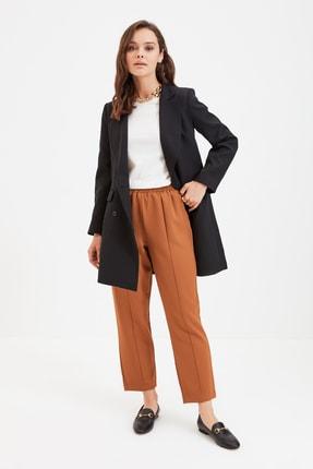 Trendyol Modest Açık Kiremit Beli Lastikli Straight Fit Dokuma Tesettür Pantolon TCTSS21PL0570