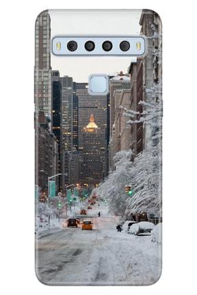 TCL 10l Kılıf Uyumlu Trend Ol Kapak Silikon Winter York