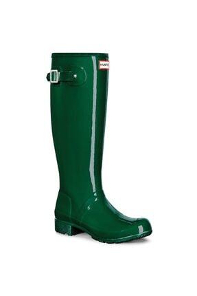 Hunter Original Tall Wellington Rain Boot Çizme Parlak Yeşil 38