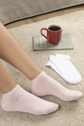 English Home Melissa Pamuk 2'li Kadın Çorap Pembe - Beyaz