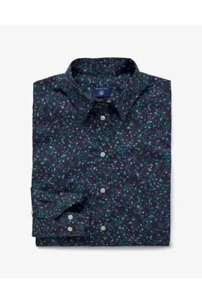 Gant Kadın Lacivert Çiçekli Slim Gömlek