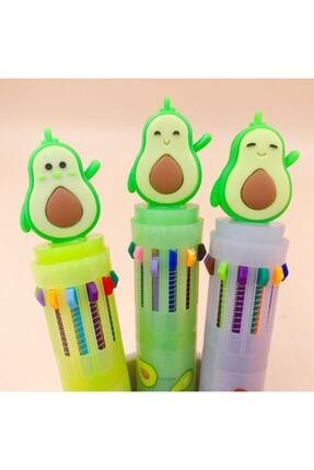 Ege Fotokopi & Kırtasiye Mini Avokado 4 Renkli Tükenmez Kalem - Çoklu Tükenmez Kalem Mini Boy